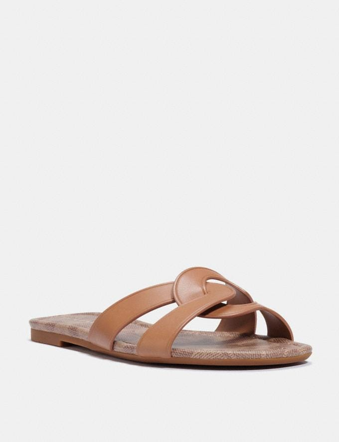 Coach Essie Sandal Natural Women Shoes Sandals