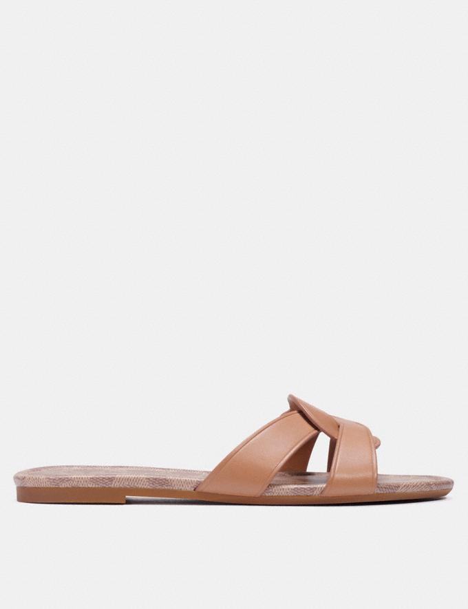 Coach Essie Sandal Natural Women Shoes Sandals Alternate View 1