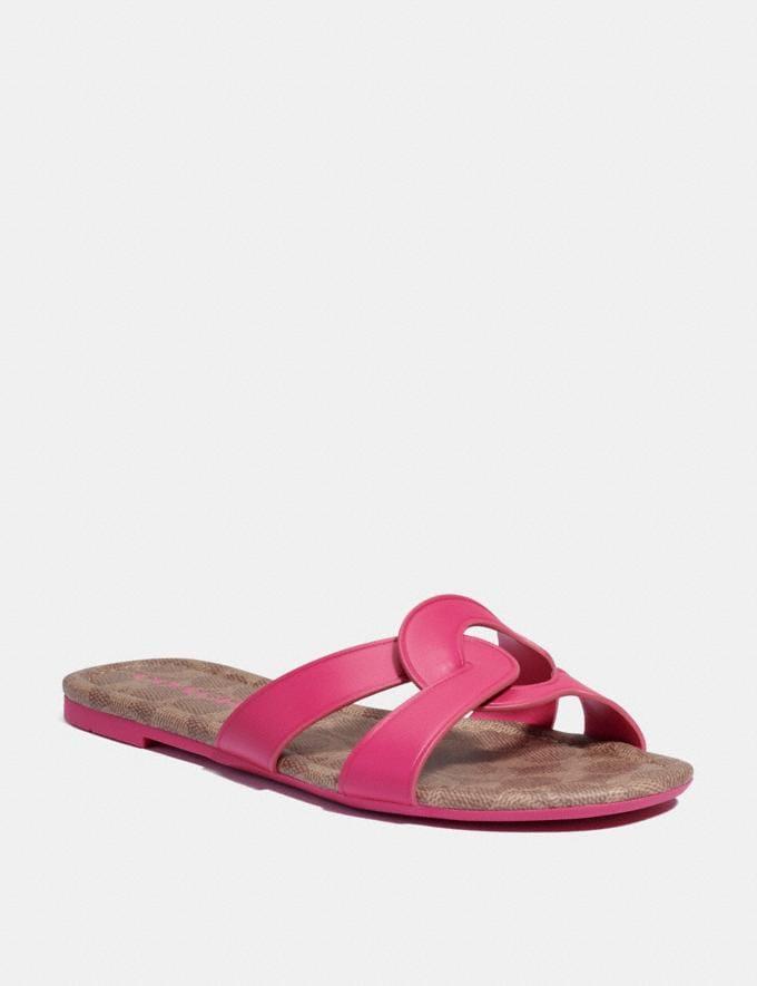 Coach Essie Sandale Knalliges Pink Damen Schuhe Sandalen