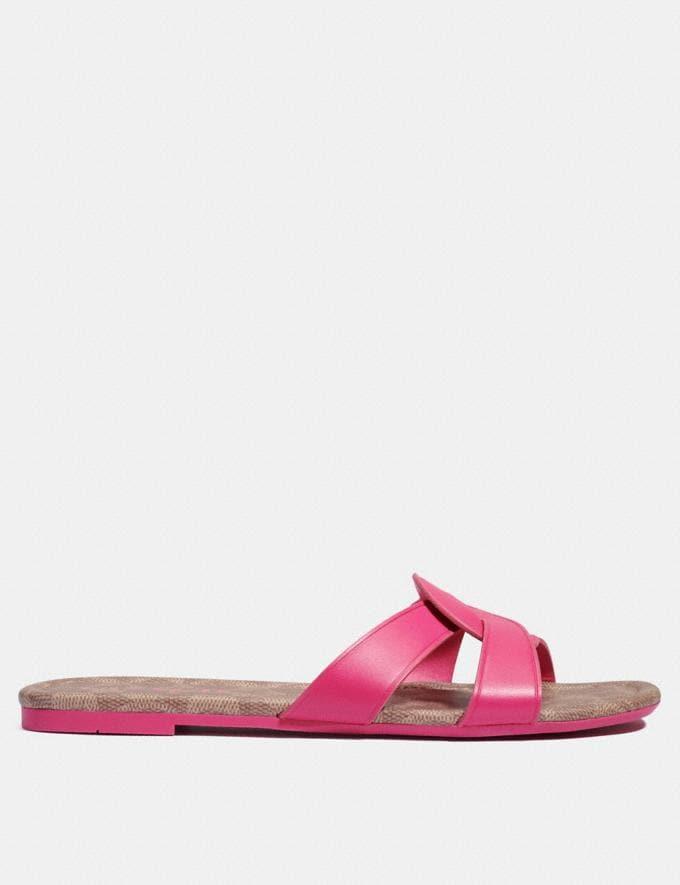 Coach Essie Sandale Knalliges Pink Damen Schuhe Sandalen Alternative Ansicht 1