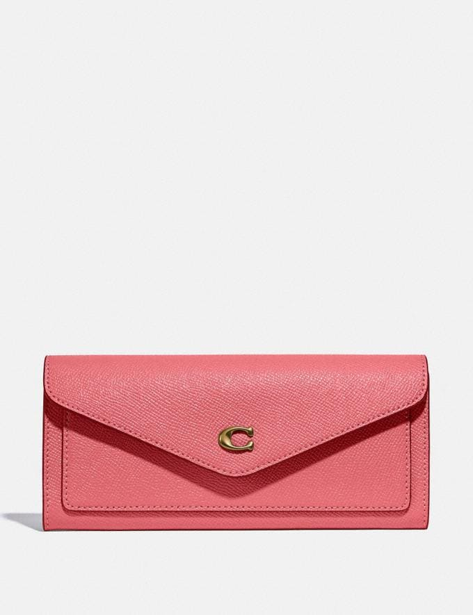 Coach Wyn Soft Wallet B4/Taffy New Women's New Arrivals Small Leather Goods