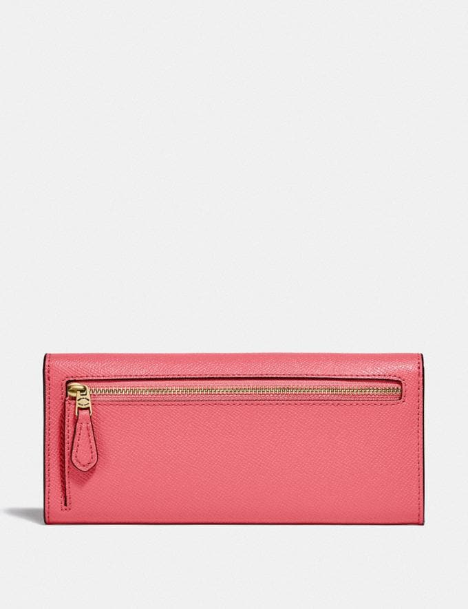 Coach Wyn Soft Wallet B4/Taffy New Women's New Arrivals Small Leather Goods Alternate View 1