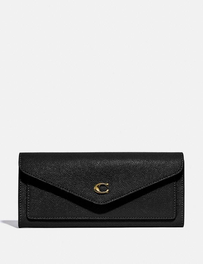 Coach Wyn Soft Wallet Gold/Black New Women's New Arrivals Small Leather Goods