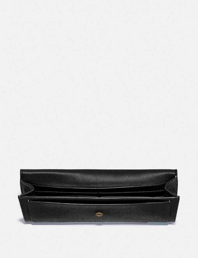 Coach Wyn Soft Wallet Gold/Black New Women's New Arrivals Small Leather Goods Alternate View 1