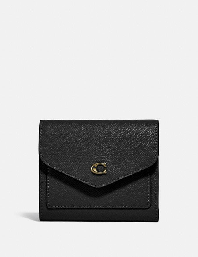 Coach Wyn Small Wallet Gold/Black New Women's New Arrivals Small Leather Goods