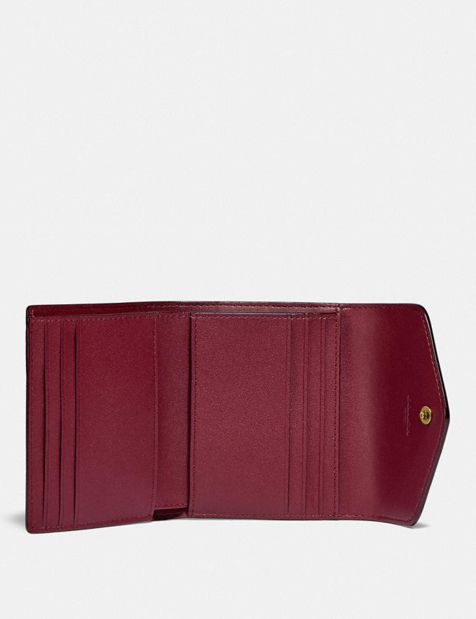 Coach Wyn Small Wallet in Colorblock Signature Canvas Brass/Tan Rouge DEFAULT_CATEGORY Alternate View 1