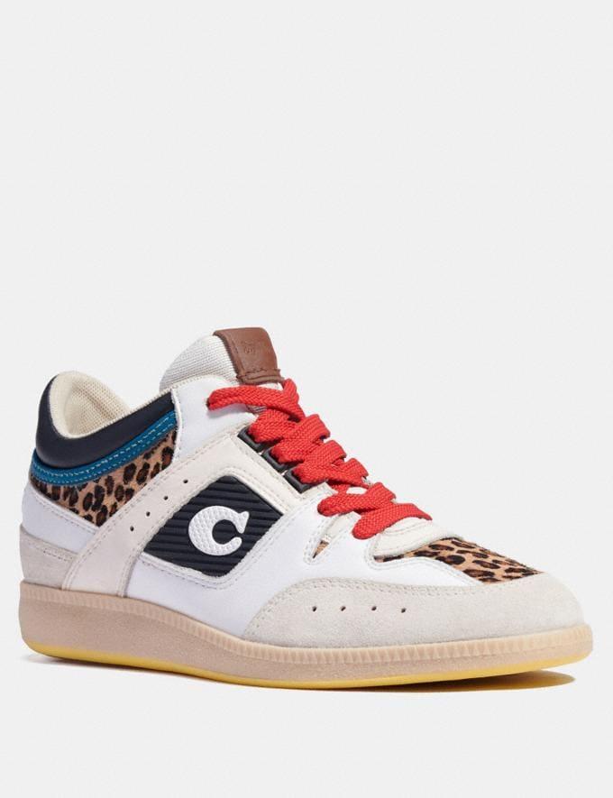 Coach Baskets Mi-Hautes Citysole Blanc/Noir Femme Chaussures Tennis