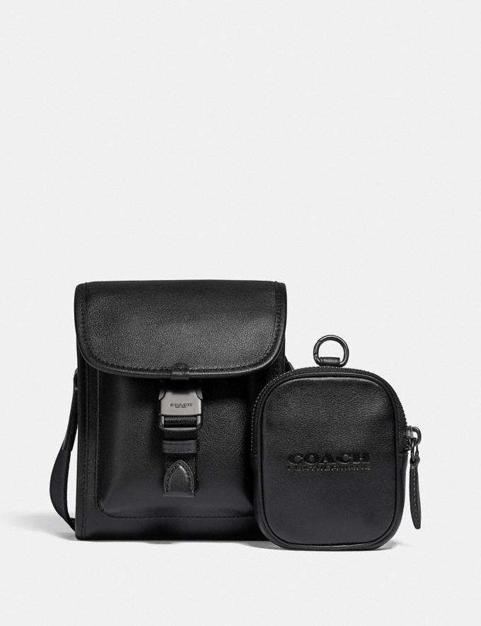 Coach Charter North/South Crossbody With Hybrid Pouch Black 8.1 newness