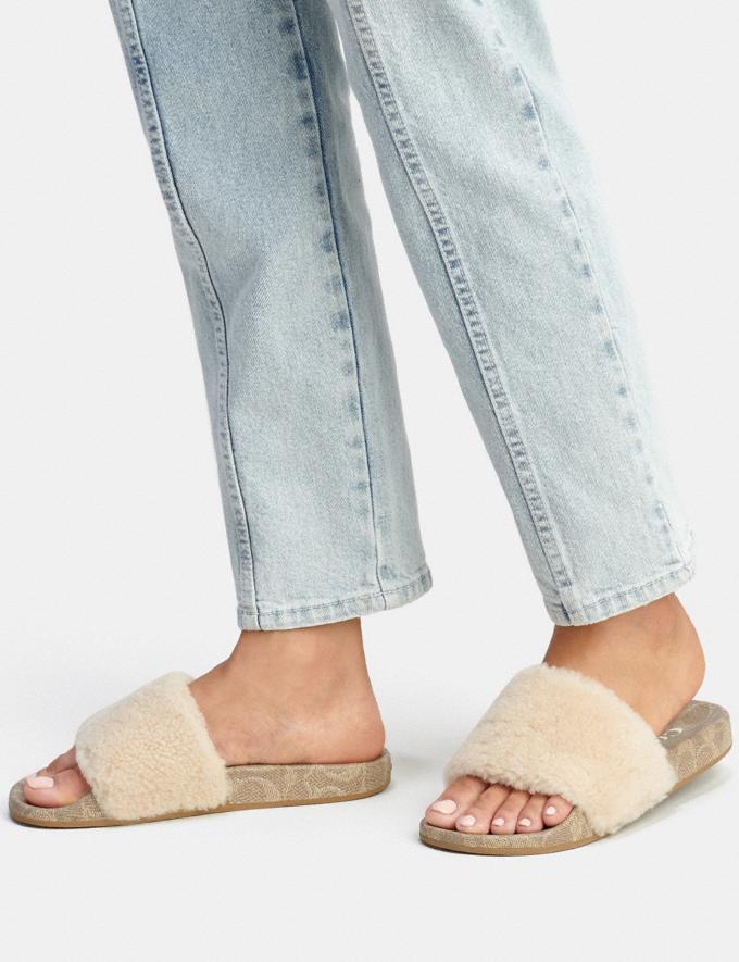 Coach Ulla Slide Ivory Women Shoes Flats Alternate View 4