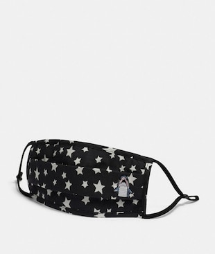 SHARKY FACE MASK WITH STAR PRINT