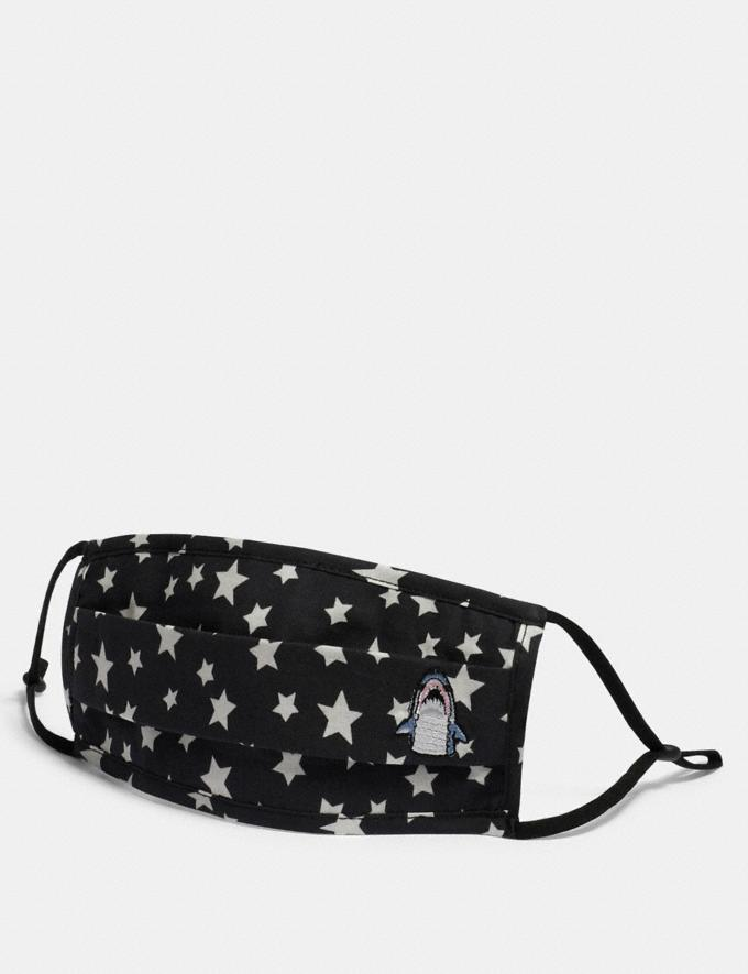 Coach Sharky Face Mask With Star Print Black New Featured Face Masks