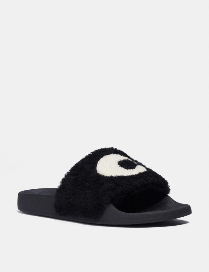 Coach Ulla Slide Black Women Shoes Flats