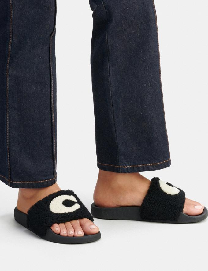 Coach Ulla Slide Black Women Shoes Flats Alternate View 4