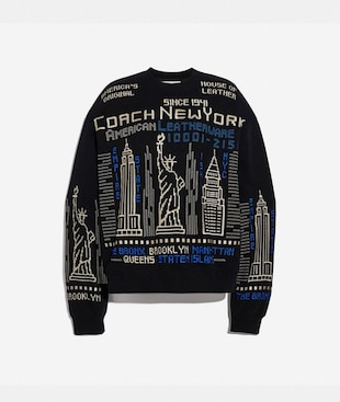 SWEATSHIRT MIT SKYLINE-STICKEREI