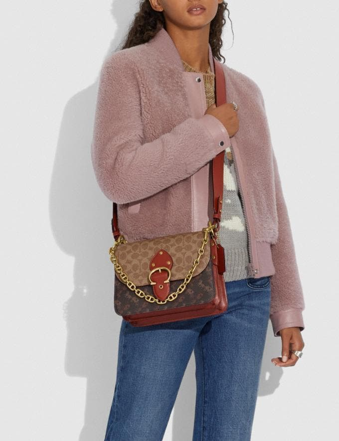 Coach Beat Shoulder Bag in Signature Canvas With Horse and Carriage Print Brass/Tan Truffle Rust New Women's New Arrivals Bags Alternate View 3