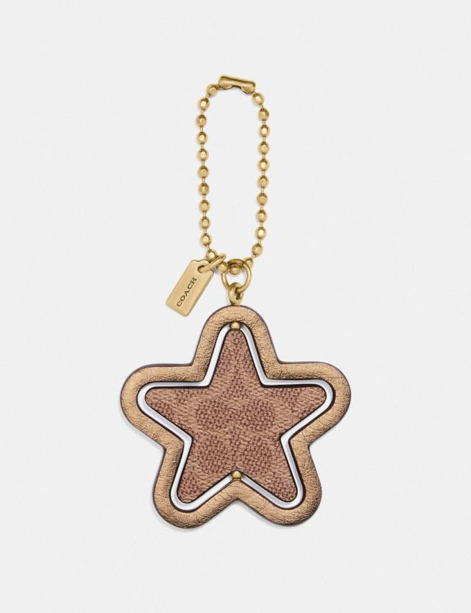 Coach Spinning Star Hangtag B4/Metallic Pyrite Gifts For Her Under £100