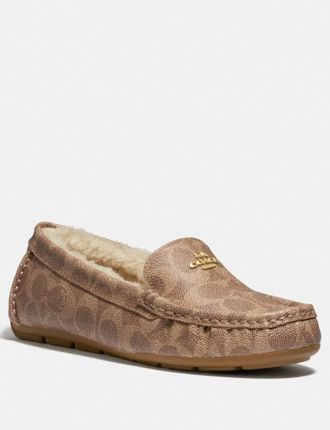 Coach Marley Driver Tan Women Shoes Flats