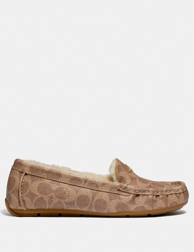 Coach Marley Driver Tan Women Shoes Flats Alternate View 1