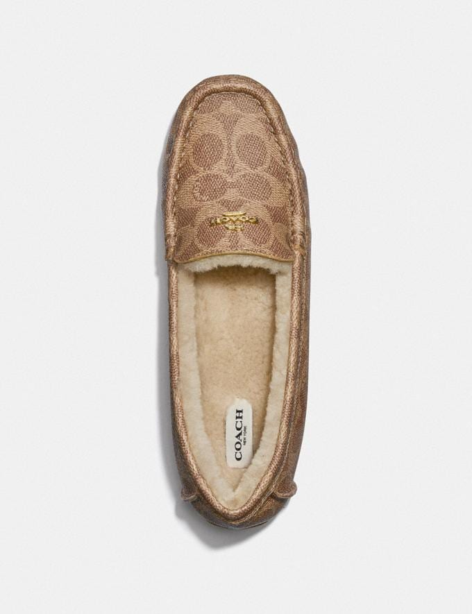 Coach Marley Driver Tan Women Shoes Flats Alternate View 2