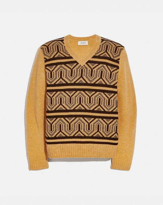 JACQUARD-SWEATER MIT GRAFIK