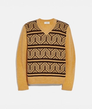 GRAPHIC JACQUARD SWEATER