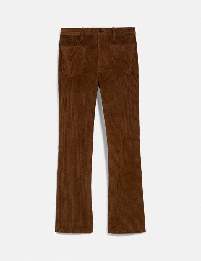 Coach Corduroy Pants Dark Brown Men Ready-to-Wear Tops & Bottoms