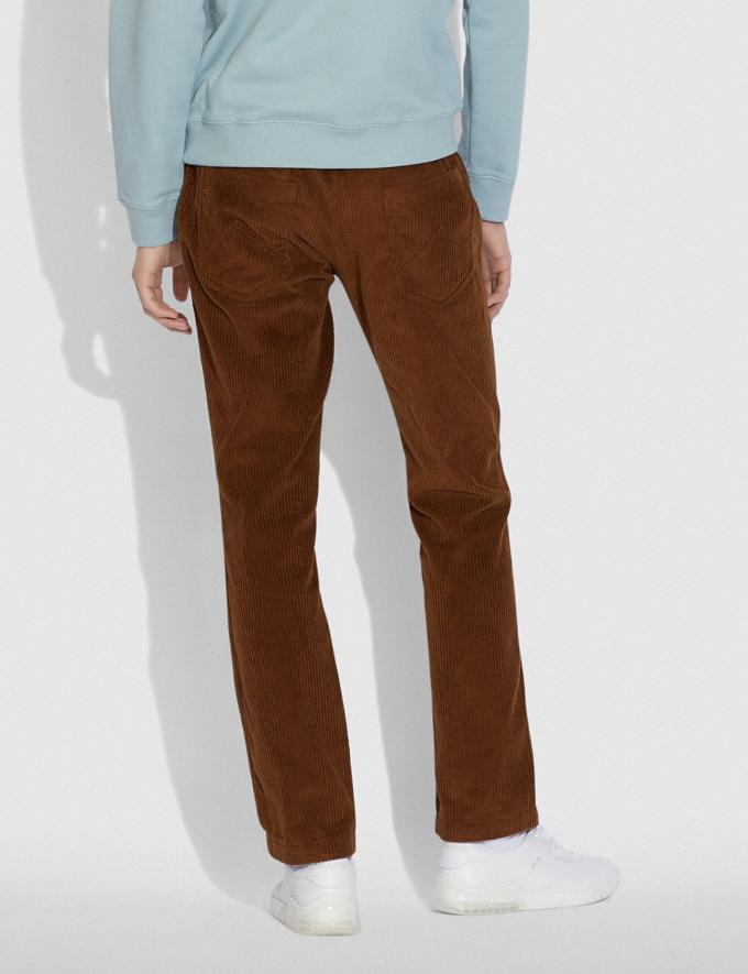 Coach Corduroy Pants Dark Brown Men Ready-to-Wear Tops & Bottoms Alternate View 2