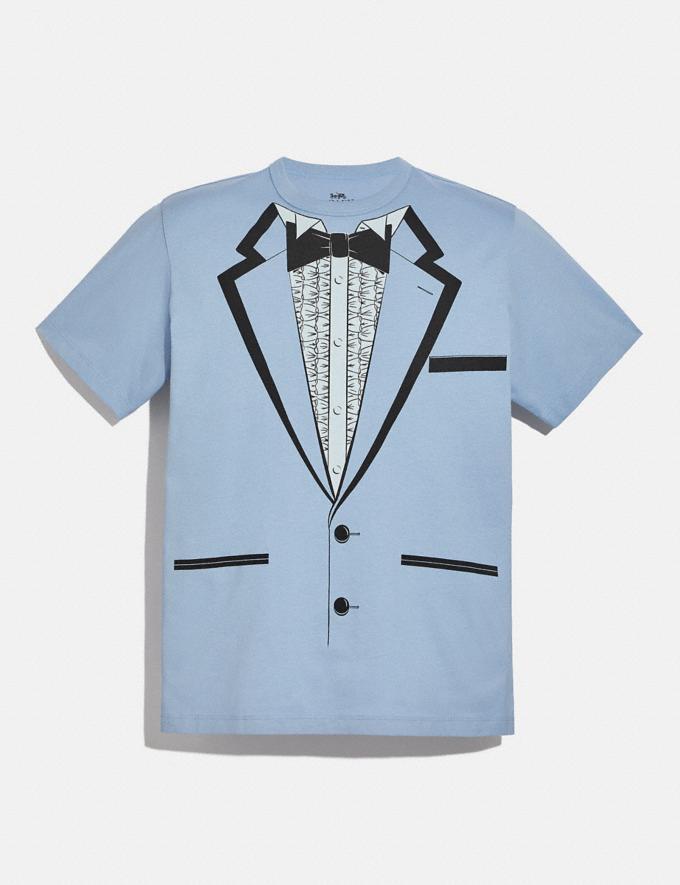 Coach Tuxedo T-Shirt Blue Men Ready-to-Wear Clothing