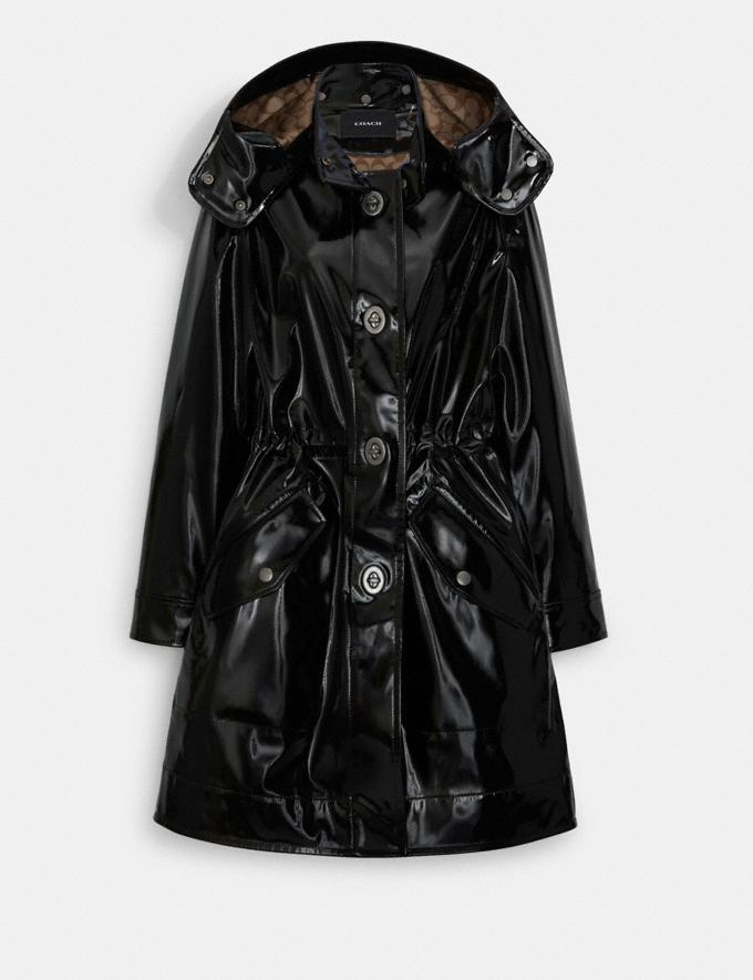 Coach Raincoat With Signature Lining Black 8.1 Outlet Newness