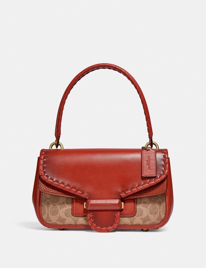 Coach Cody Shoulder Bag in Signature Canvas With Whipstitch B4/Tan Rust DEFAULT_CATEGORY