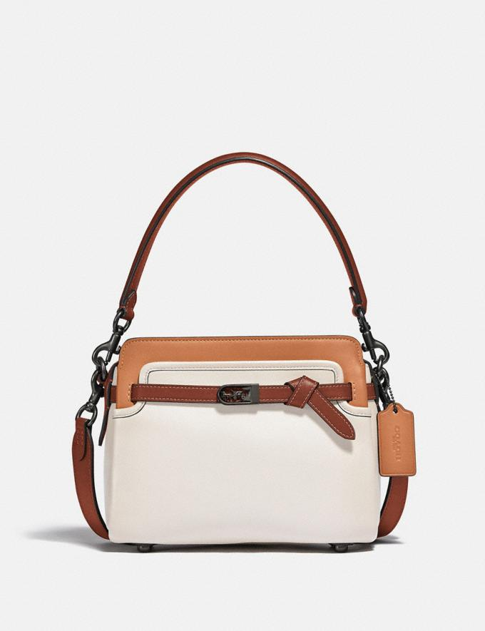 Coach Tate Carryall in Colorblock Pewter/Chalk Natural Multi