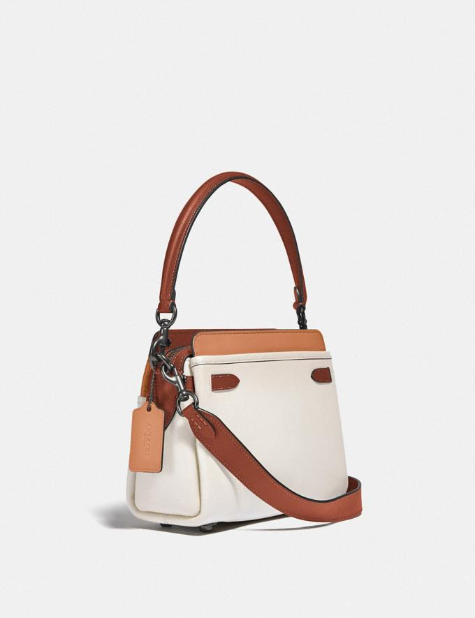 Coach Tate Carryall in Colorblock Pewter/Chalk Natural Multi  Alternate View 1