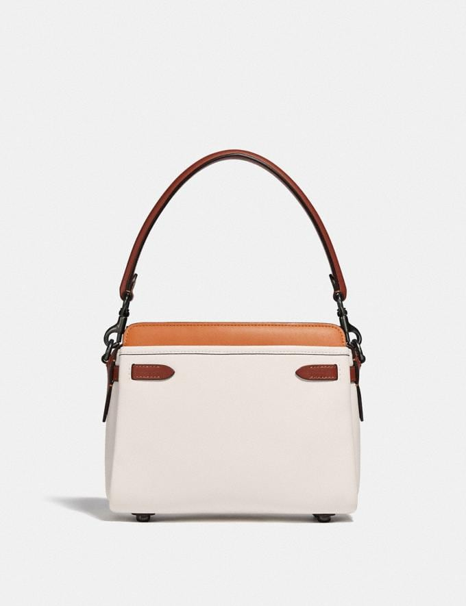 Coach Tate Carryall in Colorblock Pewter/Chalk Natural Multi  Alternate View 2