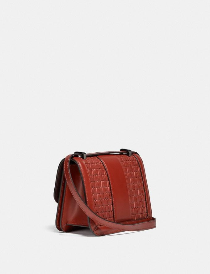 Coach Alie Shoulder Bag 18 With Weaving V5/Red Sand  Alternate View 1
