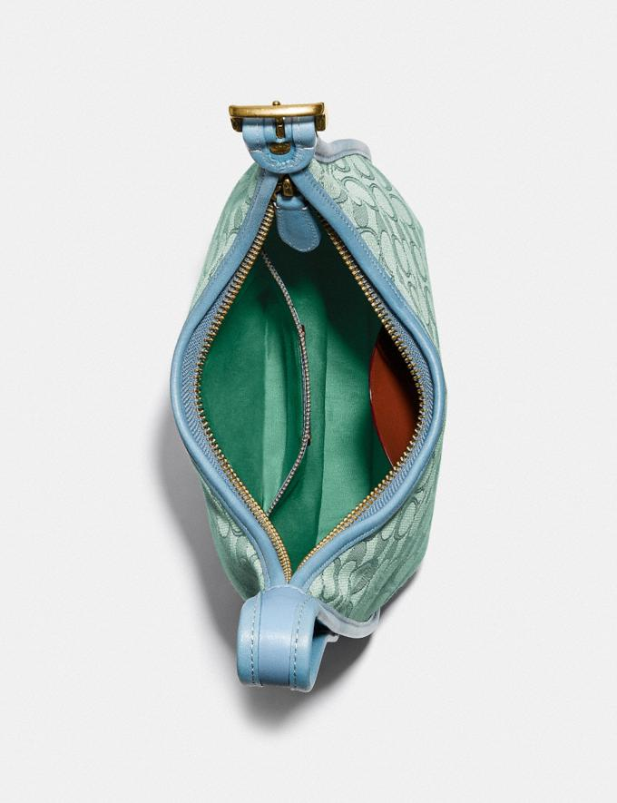 Coach Ergo Shoulder Bag in Signature Jacquard B4/Green Azure  Alternate View 3