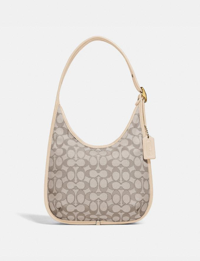 Coach Ergo Shoulder Bag in Signature Jacquard Brass/Stone Ivory