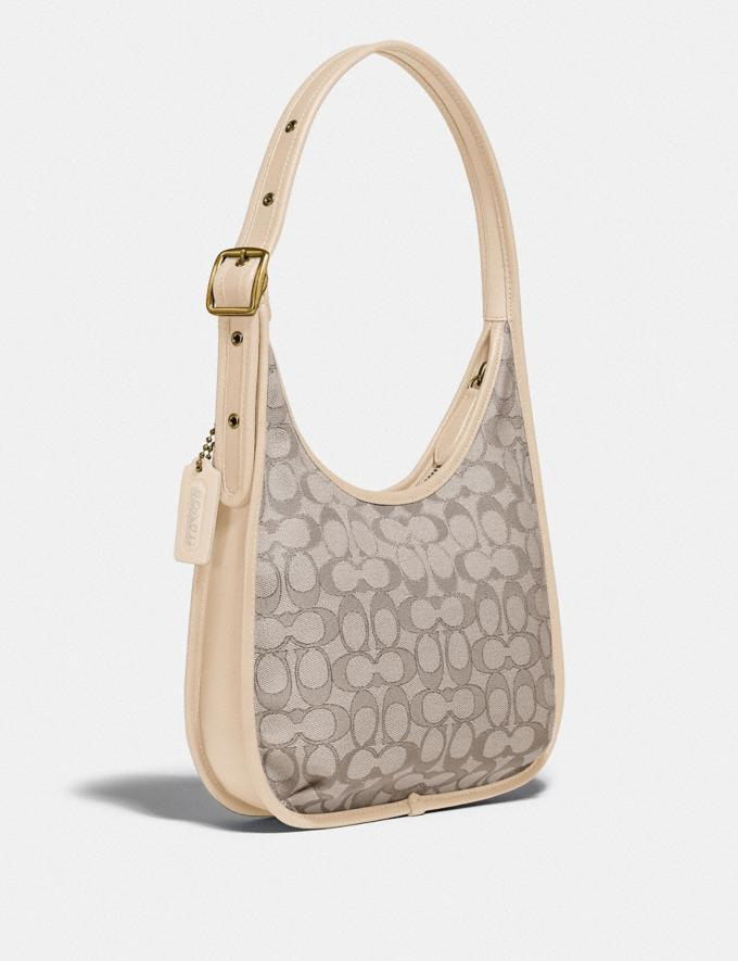 Coach Ergo Shoulder Bag in Signature Jacquard Brass/Stone Ivory  Alternate View 1