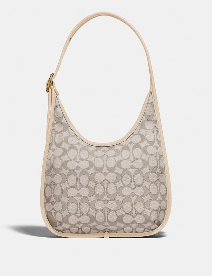 Coach Ergo Shoulder Bag in Signature Jacquard Brass/Stone Ivory  Alternate View 2