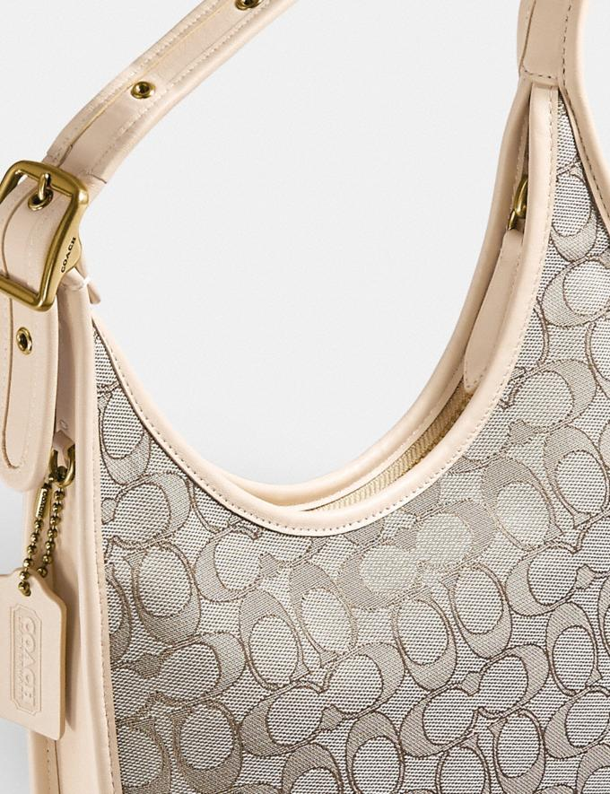 Coach Ergo Shoulder Bag in Signature Jacquard Brass/Stone Ivory  Alternate View 5