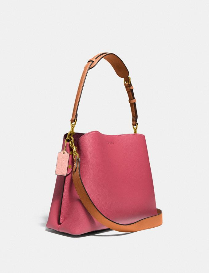Coach Willow Shoulder Bag in Colorblock Brass/Rouge Multi New Women's New Arrivals Bags Alternate View 1