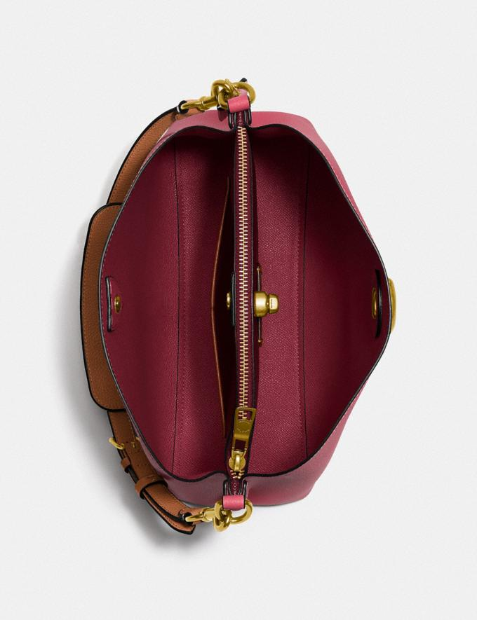 Coach Willow Shoulder Bag in Colorblock Brass/Rouge Multi New Women's New Arrivals Bags Alternate View 2