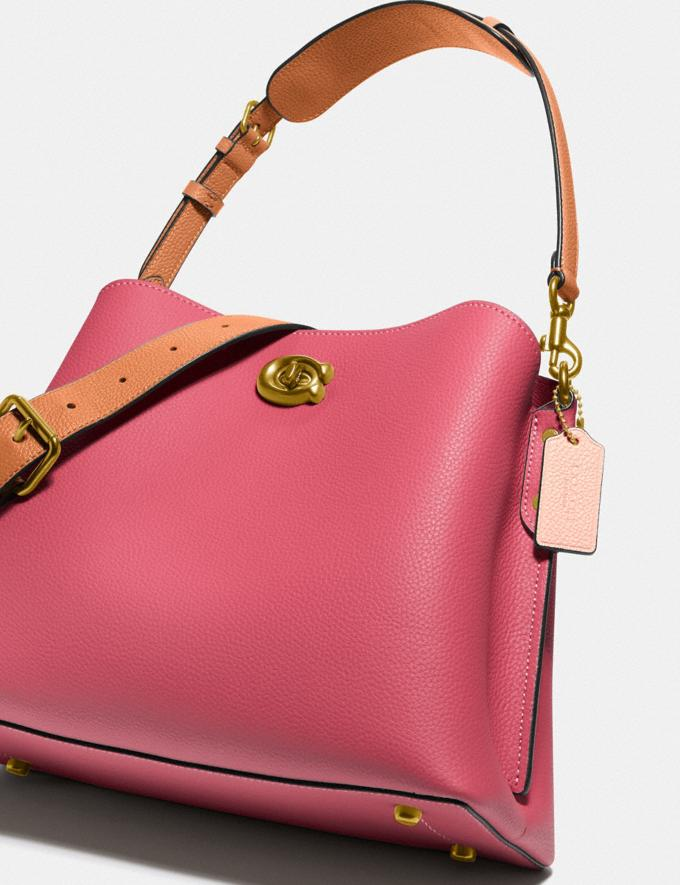 Coach Willow Shoulder Bag in Colorblock Brass/Rouge Multi New Women's New Arrivals Bags Alternate View 4
