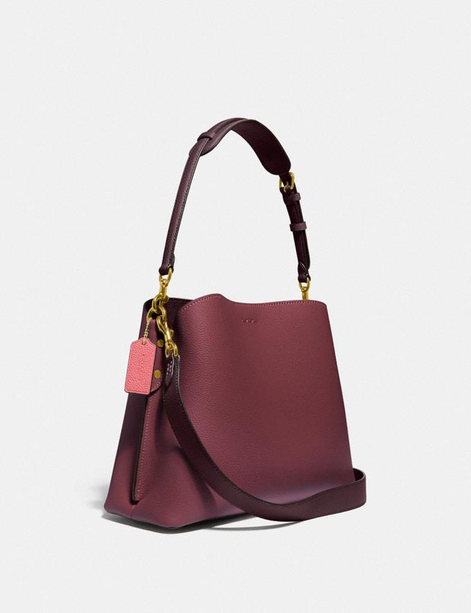 Coach Willow Shoulder Bag in Colorblock Brass/Black Cherry Multi Gifts For Her Under £500 Alternate View 1