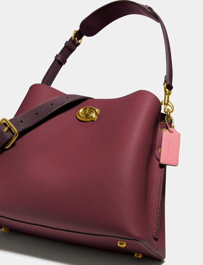 Coach Willow Shoulder Bag in Colorblock Brass/Black Cherry Multi Gifts For Her Under £500 Alternate View 4