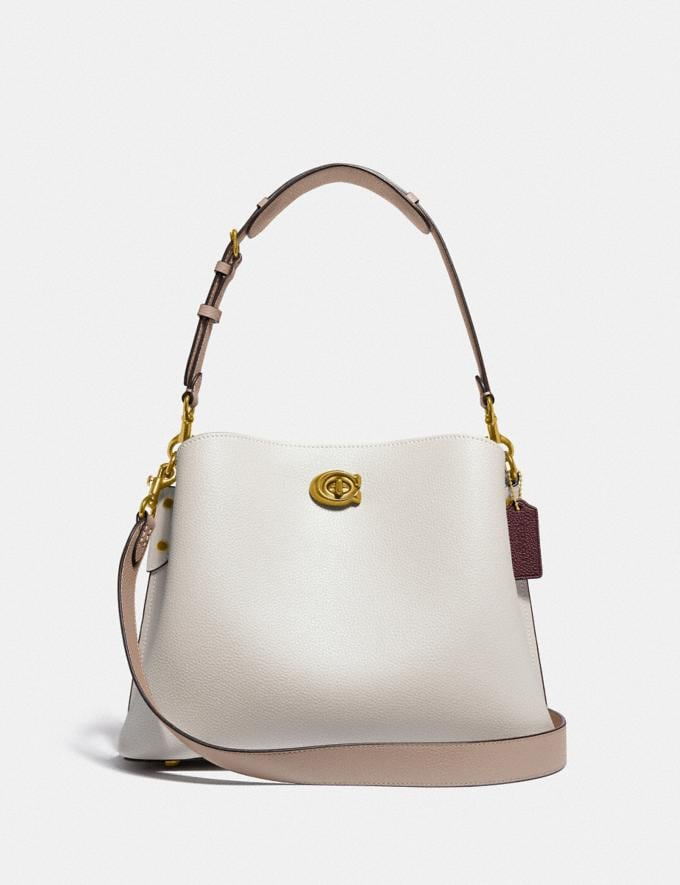 Coach Willow Shoulder Bag in Colorblock Brass/Chalk Multi New Women's New Arrivals Bags