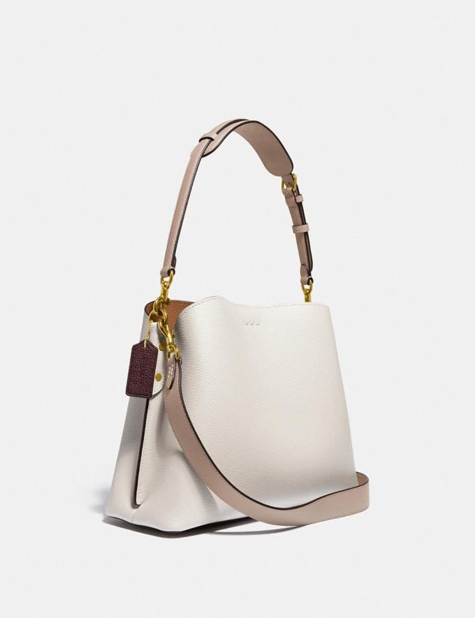 Coach Willow Shoulder Bag in Colorblock Brass/Chalk Multi New Women's New Arrivals Bags Alternate View 1