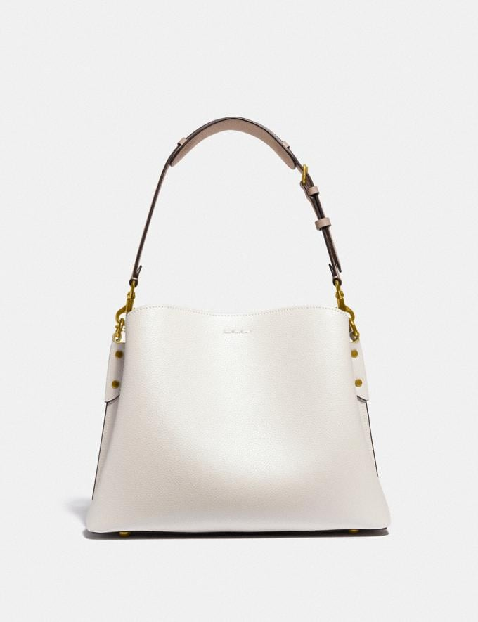 Coach Willow Shoulder Bag in Colorblock Brass/Chalk Multi New Women's New Arrivals Bags Alternate View 2