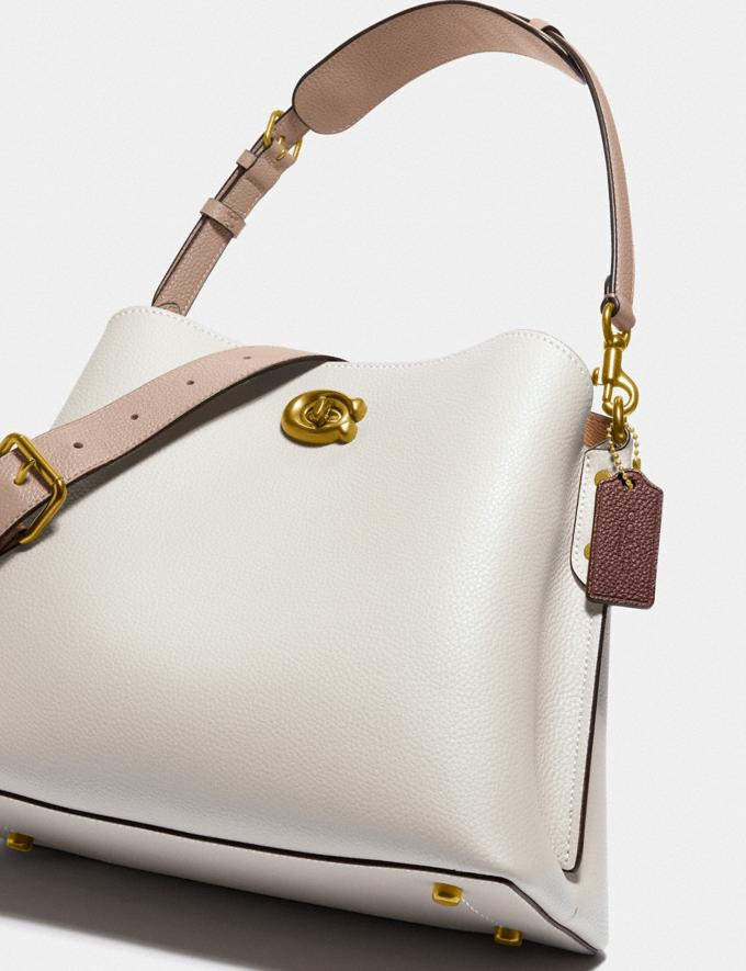 Coach Willow Shoulder Bag in Colorblock Brass/Chalk Multi New Women's New Arrivals Bags Alternate View 5
