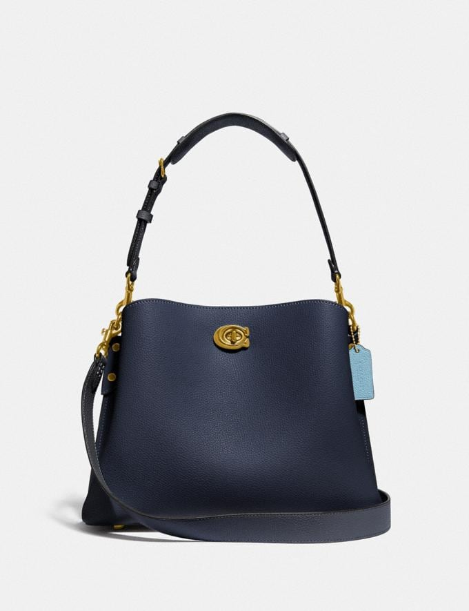 Coach Willow Shoulder Bag in Colorblock B4/Midnight Navy Multi New Women's New Arrivals Bags