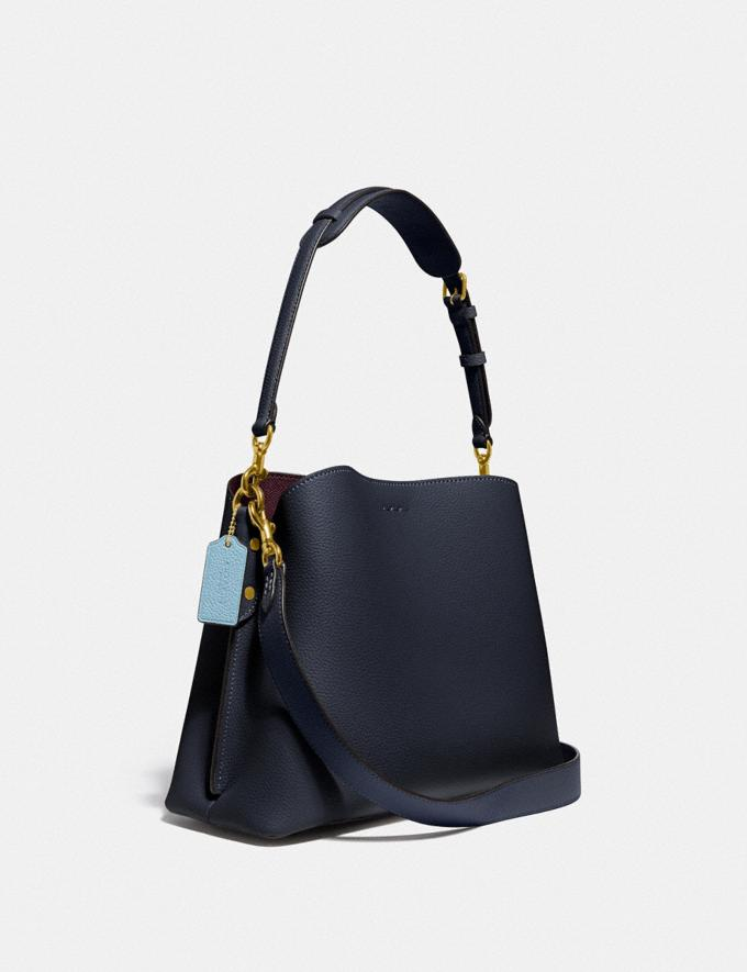 Coach Willow Shoulder Bag in Colorblock B4/Midnight Navy Multi New Women's New Arrivals Bags Alternate View 1